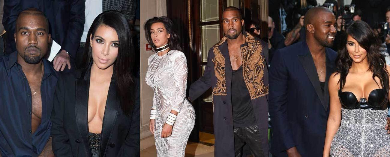 Foto: Kanye West lleva más escote que Kim Kardashian