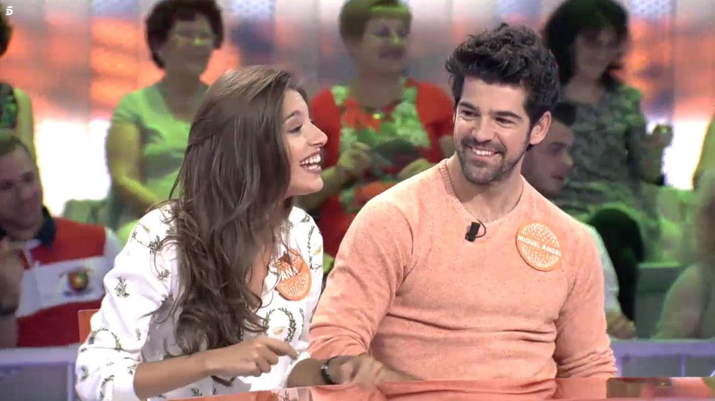 Ana Guerra y Miguel Ángel Muñoz, juntos en 'Pasapalabra'. (Mediaset)