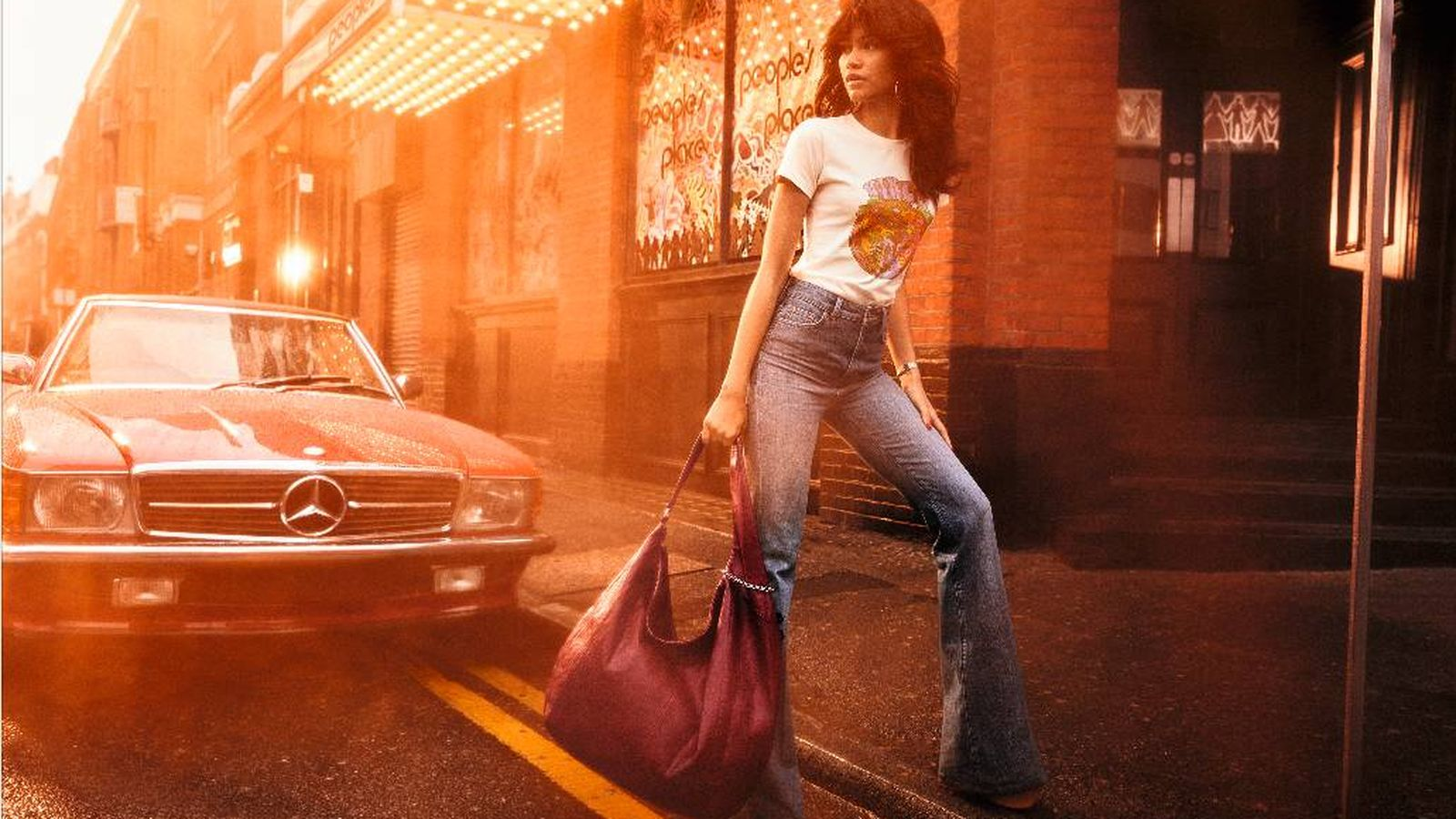 Foto: Uma imagen de Zendaya en la campaña para Tommy. (Cortesía)