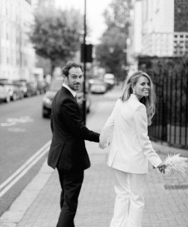 Foto: Los recién casados, en una foto del perfil de Instagram de Irene Forte.