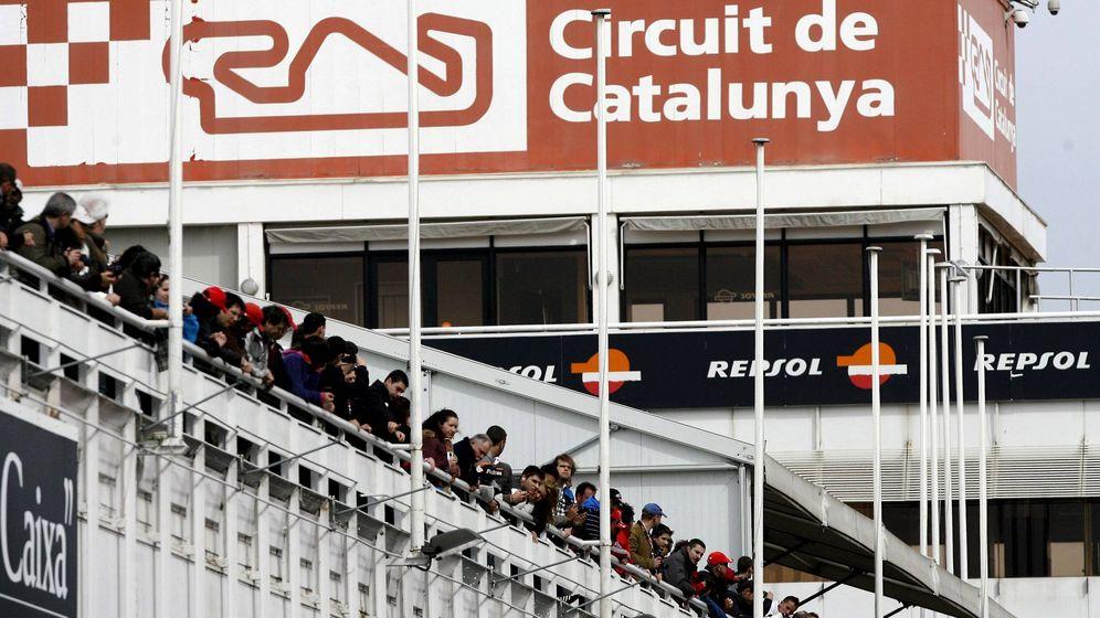 Foto: Imagen de una de las gradas del Circuito de Cataluña (Efe).