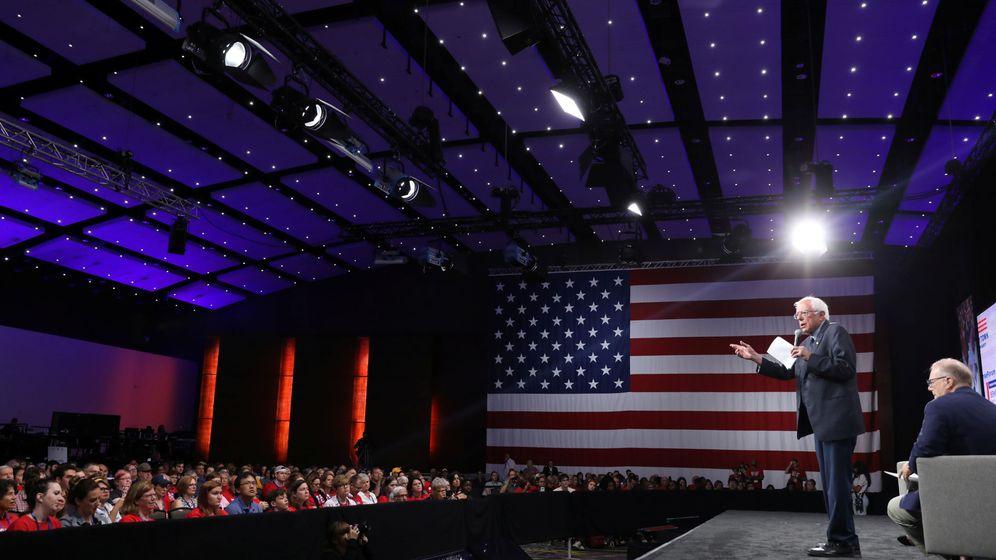 Foto: El candidato a las primarias demócratas Bernie Sanders, en un acto. (Reuters)