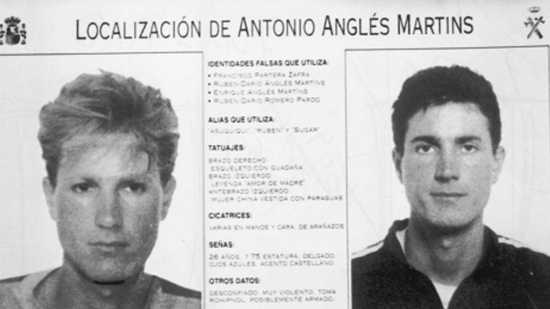 Cartel de búsqueda y captura de Antonio Anglés.