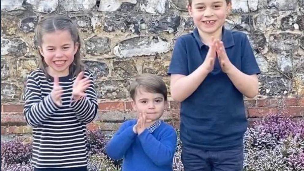El gesto más comprometido de George, Charlotte y Louis: ellos también aplauden
