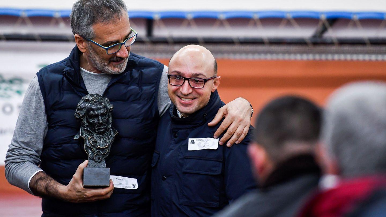 El director de la película 'Campeones', Javier Fesser y el actor, Jesús Vidal (EFE)