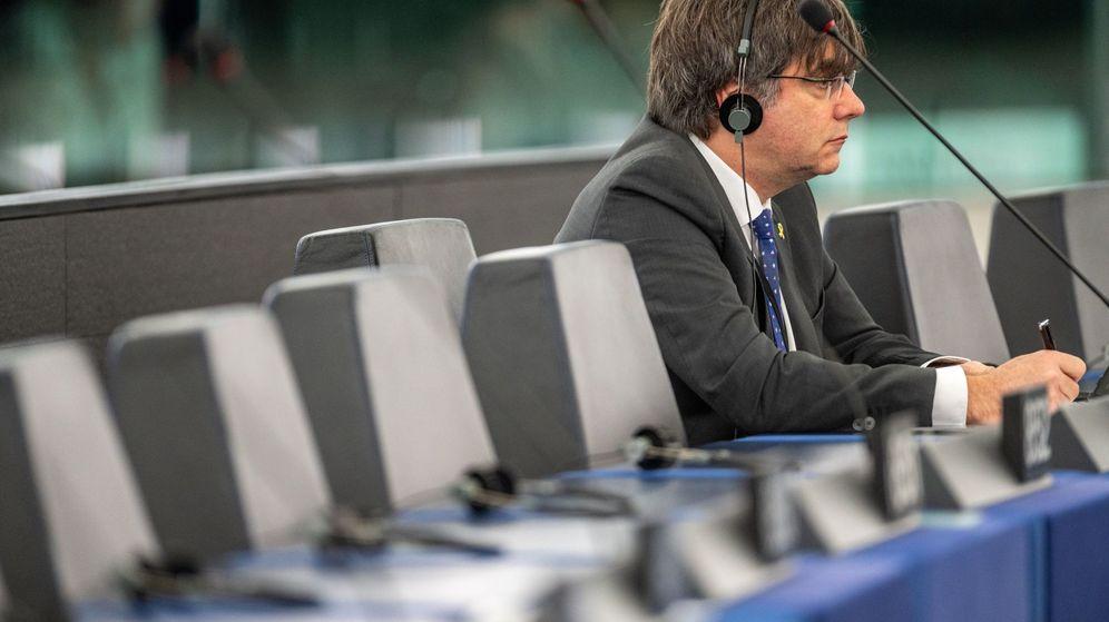 Foto: El expresidente de la Generalitat Carles Puigdemont, en el Parlamento Europeo. (EFE)