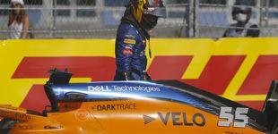 Post de El primer gran error de Carlos Sainz en McLaren: