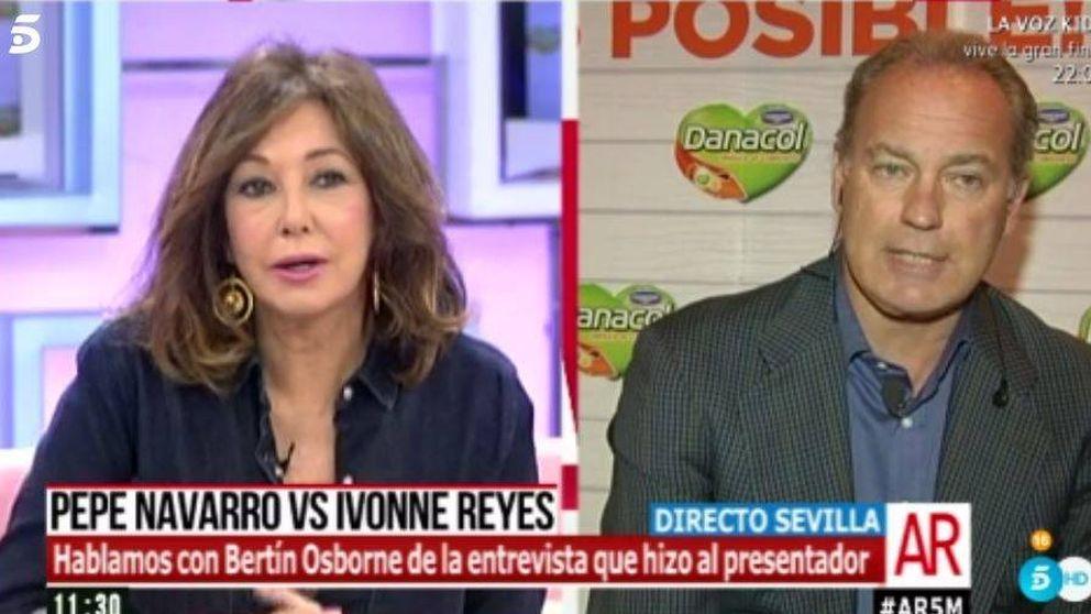 Bertín Osborne saca la cara por Pepe Navarro en su conflicto con Ivonne