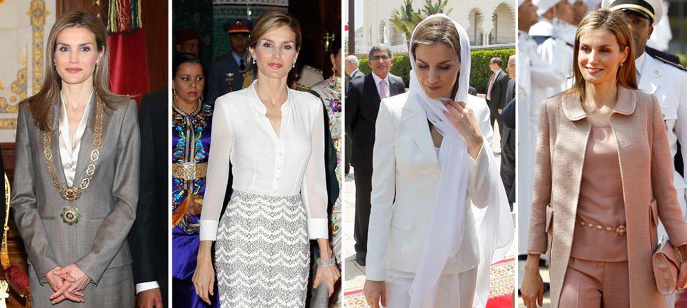 Foto: Todos los looks de Letizia en Marruecos (Gtres)