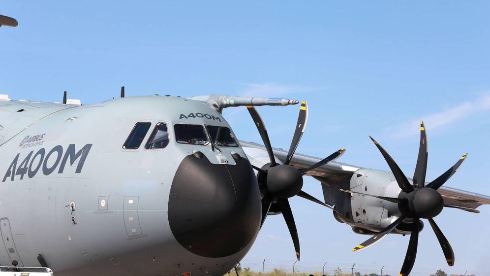 Foto: Un avión A400M, en Sevilla. (Airbus)