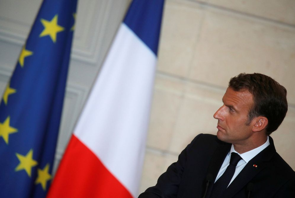 Foto: Emmanuel Macron durante una rueda de prensa en el Elíseo, el 5 de junio de 2018. (Reuters)