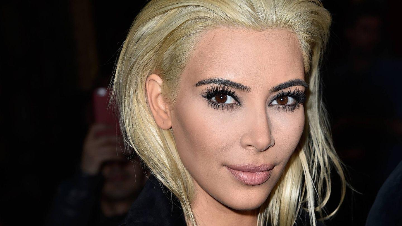 Las cejas de Kim. (Getty)