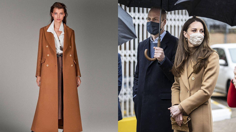 El abrigo de Massimo Dutti. (Cortesía / Getty)