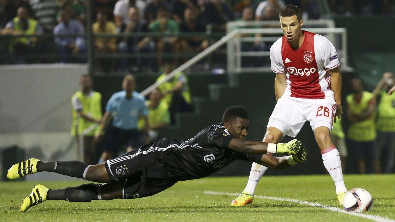 En la imagen, André Onana, guardameta del Ajax (Reuters)