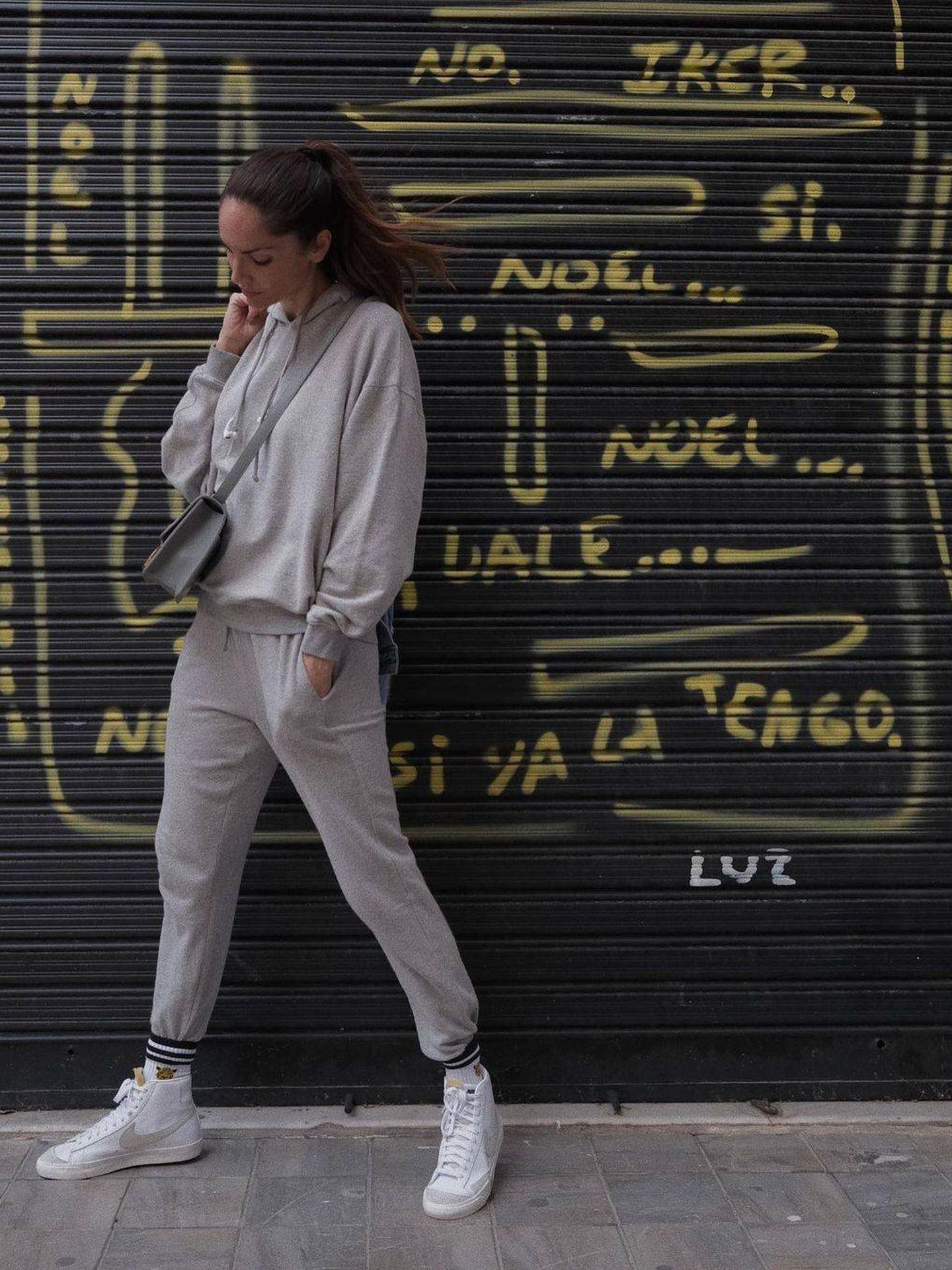 Eugenia Silva y su look con chándal. (Instagram @eusilva)