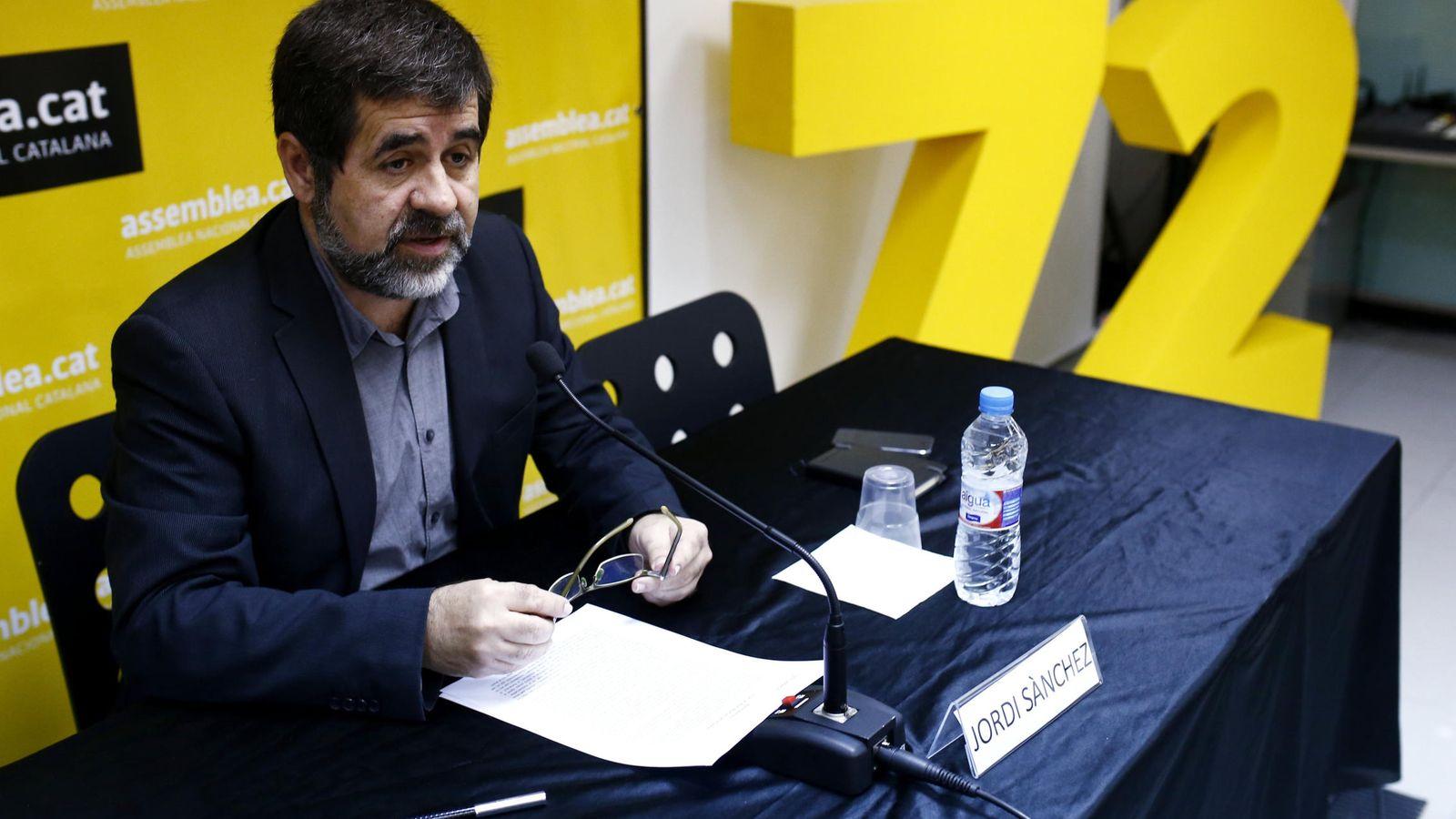 Foto: El presidente de la Assemblea Nacional de Catalunya (ANC), Jordi Sánchez. (EFE)
