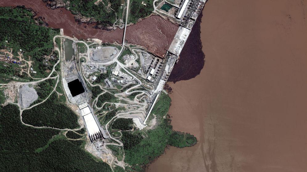 Foto: Imagen de satélite de la Gran Presa del Renacimiento etíope. (Reuters)