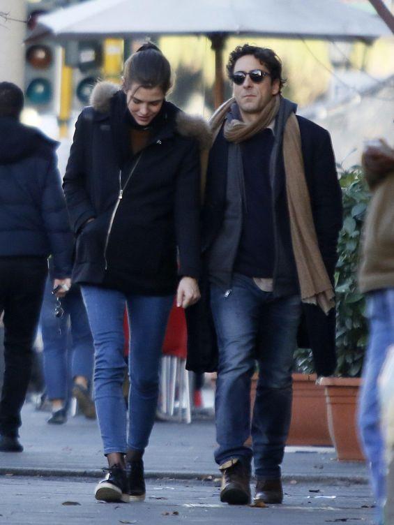 Foto: Carlota y Lamberto paseando por las calles de Roma