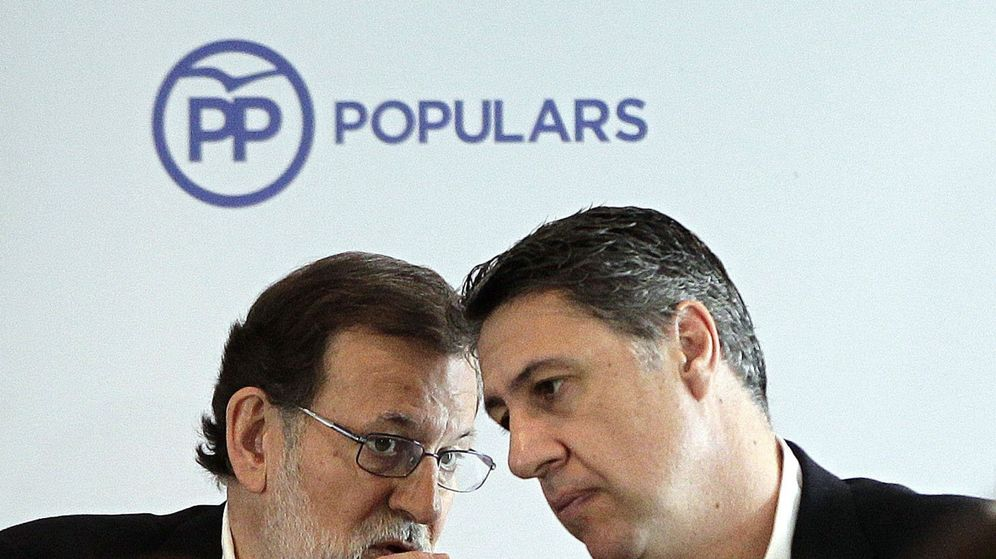 Foto: El presidente del Gobierno, Mariano Rajoy, y el líder del PP catalán, Xavier García Albiol. (EFE)