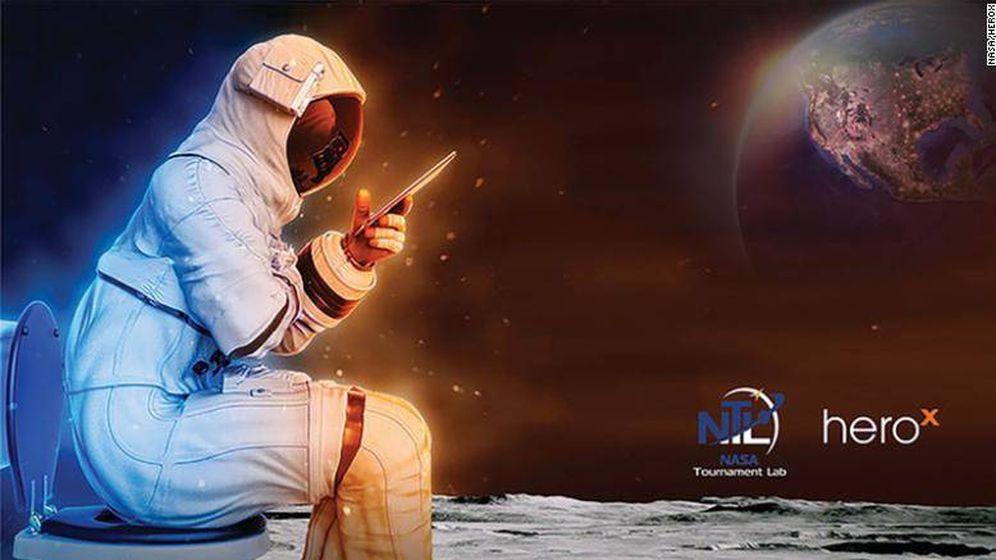 Foto: Los astronautas también tienen que hacer sus necesidades... y la NASA lo sabe. Foto: NASA