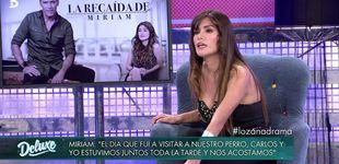 Post de ¿Han vuelto Carlos Lozano y Miriam? La peruana se confiesa en el 'Deluxe'