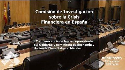 La exministra Salgado, en la comisión de investigación de la crisis
