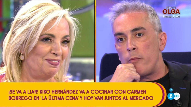 'La última cena' se la juega a Carmen Borrego: Kiko Hernández es su compañero