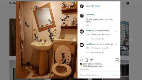 Arte urbano en su baño: Banksy reaparece con obras caseras durante el coronavirus