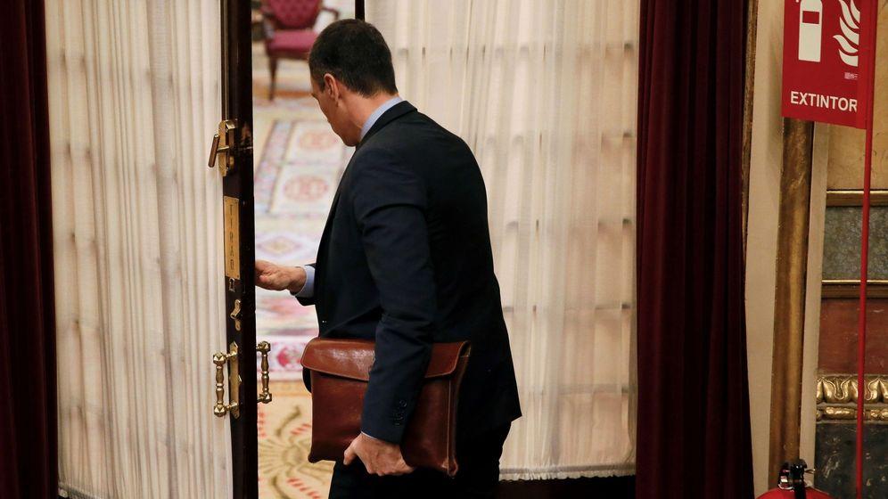 Foto: El presidente del Gobierno, Pedro Sánchez, en el Congreso de los Diputados, este miércoles. (EFE)