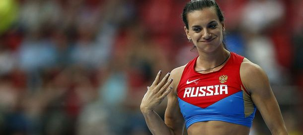 Foto: La atleta rusa, durante la competición.