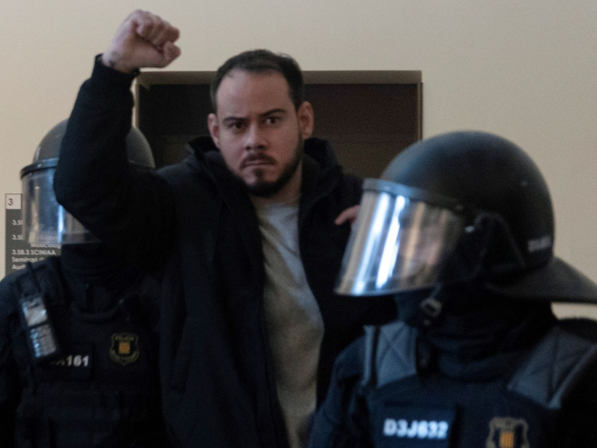 Foto: El rapero, durante su detención. (Reuters)