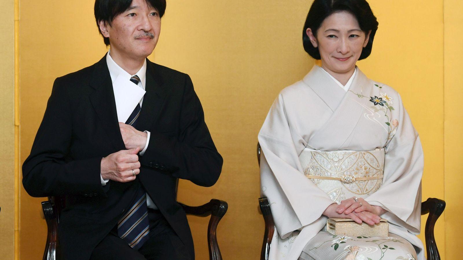 Foto: El príncipe Akishino y la princesa Kiko en una imagen de archivo. (Reuters)