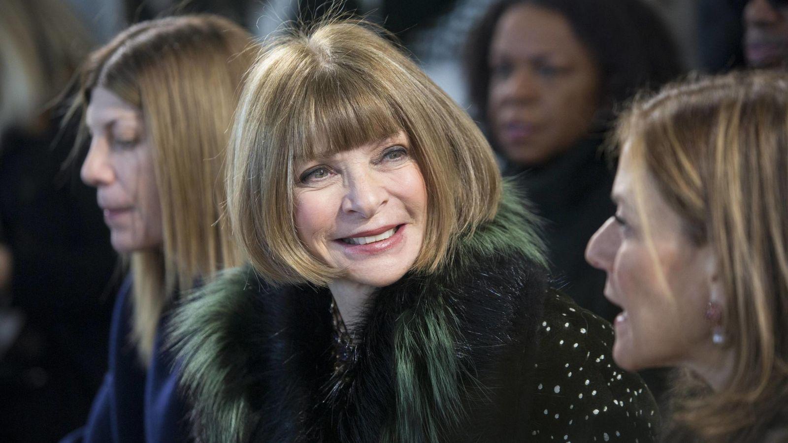 Foto: Anna Wintour, en un pase de moda en Nueva York. REUTERS/Andrew Kelly