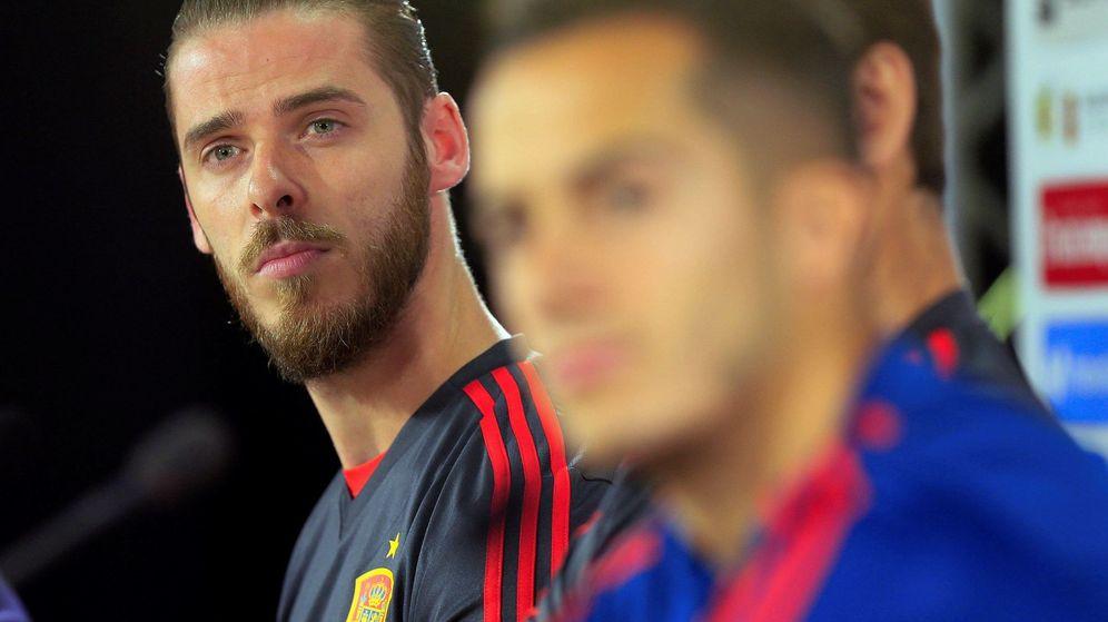 Foto: David de Gea, con gesto serio, durante la concentración de la Selección española para preparar el Mundial de Rusia. (EFE)