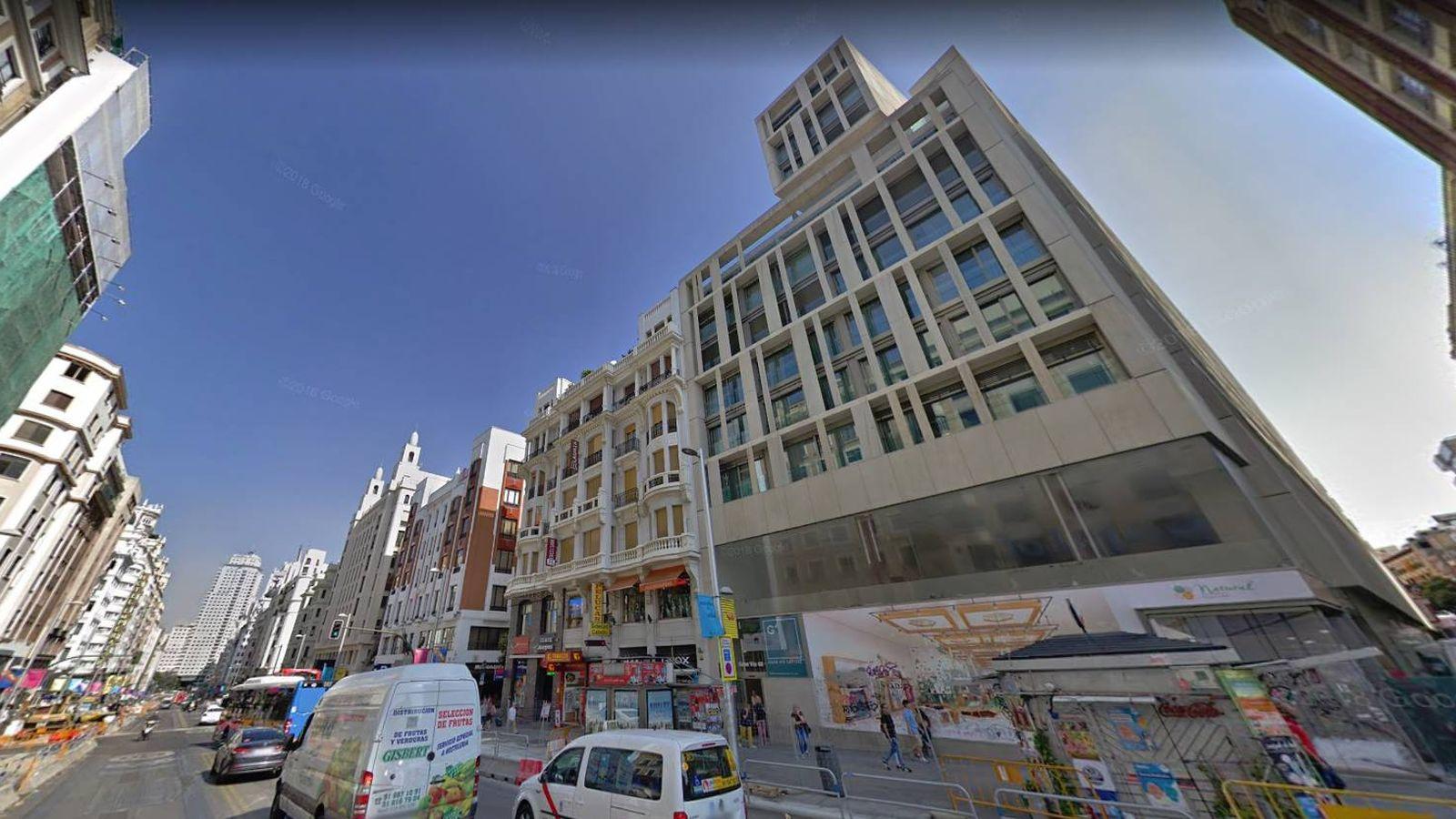 Foto: Greystar ha adquirido el número 48 de Gran Vía. (Google Maps)