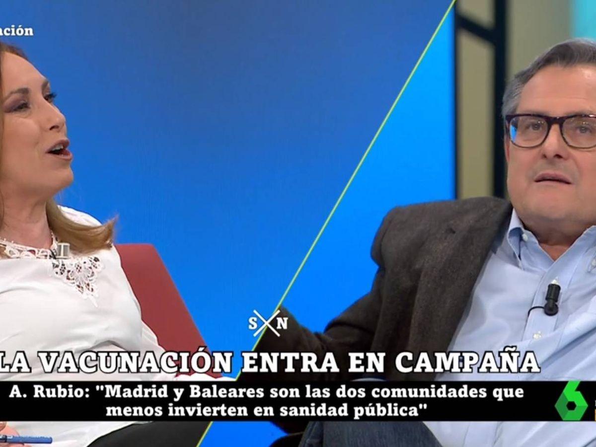 Foto: Angélica Rubio y Marhuenda, en 'La Sexta noche'. (Atresmedia).