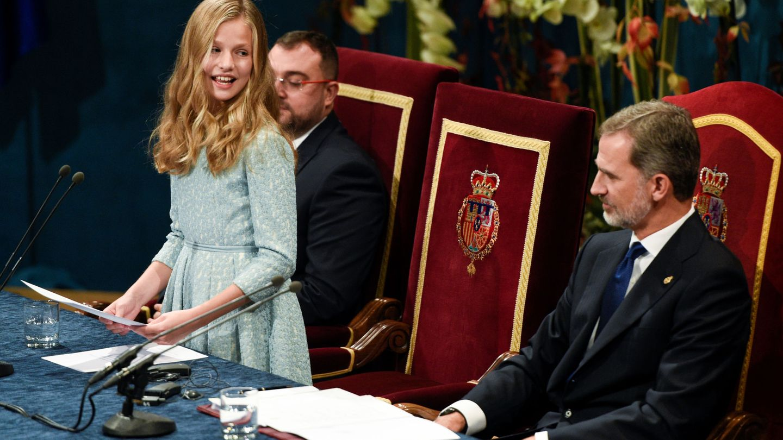 La princesa Leonor, durante su discurso. (Reuters)