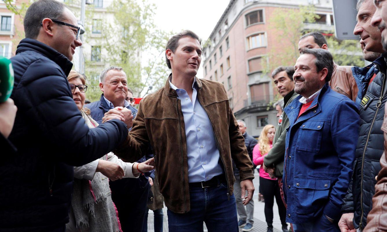 El líder de Cs, Albert Rivera, durante la manifestación en reivindicación de la 'España vaciada'. (EFE)