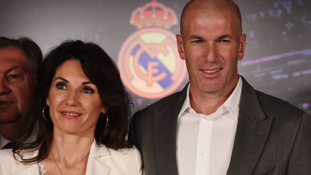 Foto:  Zinedine Zidane y su esposa. (Getty)