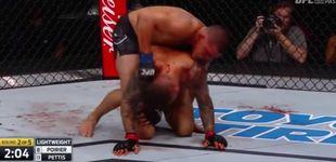 Post de El KOT de la jornada en la UFC: Poirier atacó la costilla de Pettis
