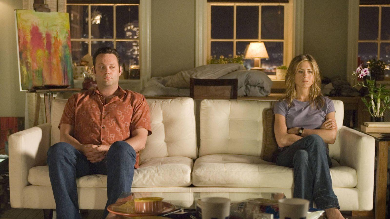 Foto: Vince Vaughn y Jennifer Aniston en un fotograma de 'The Break Up'.