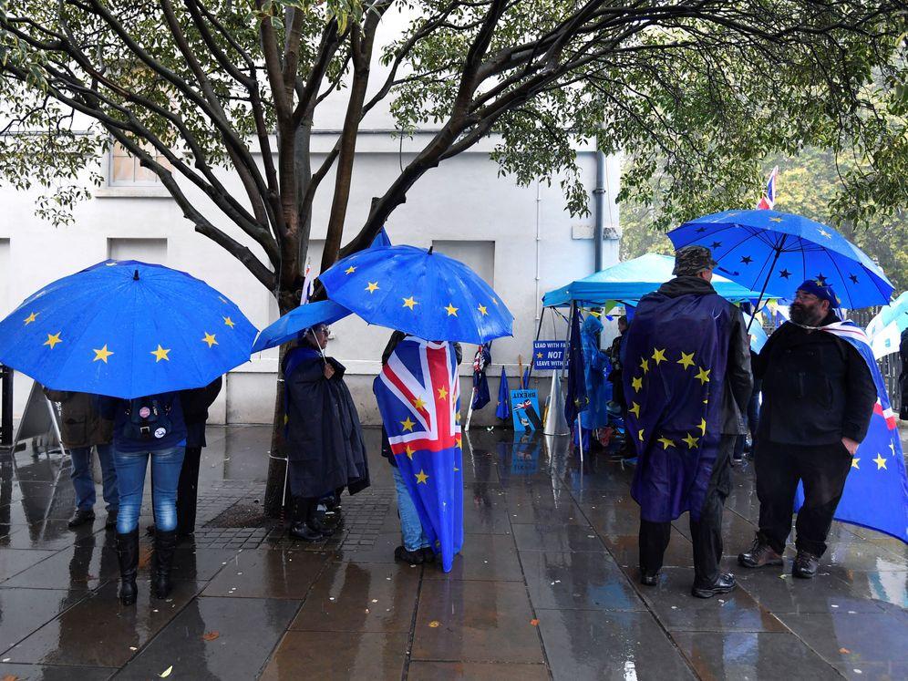 Foto: Manifestantes pro UE, en Londres. (Reuters)