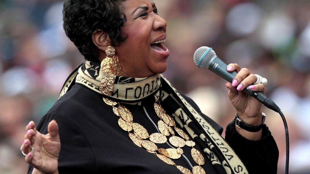 Foto: Aretha Franklin en un concierto en Detroit en 2011. (Efe)