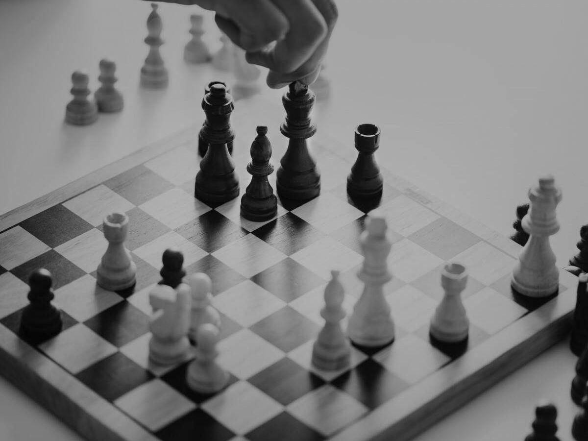 Foto: Tablero de ajedrez.
