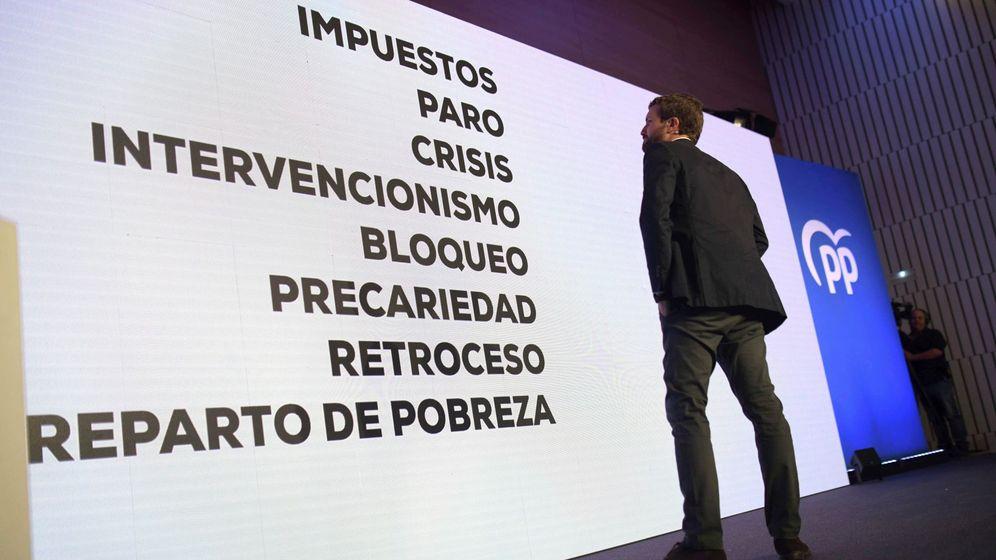 Foto: Pablo Casado, en la convención económica del PP en Córdoba. (EFE)