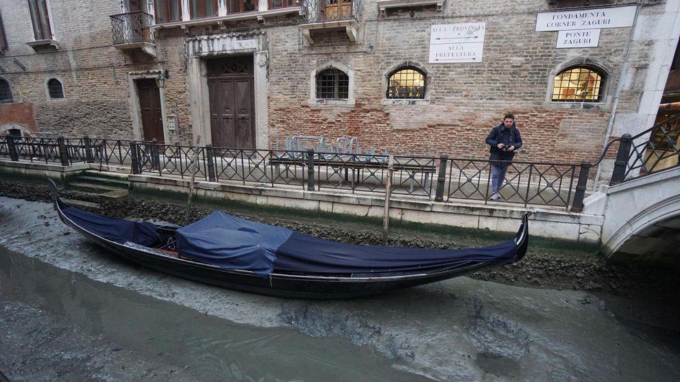 Venecia se queda sin agua en sus canales