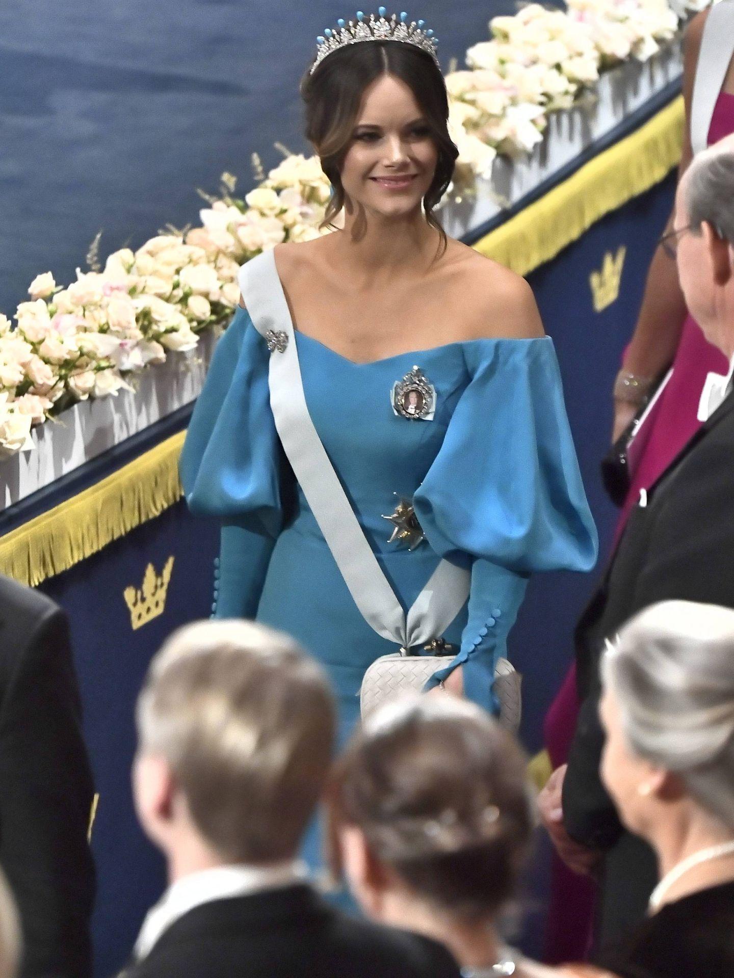 La princesa Sofía, en la ceremonia de los Premios Nobel, este martes. (Cordon Press)