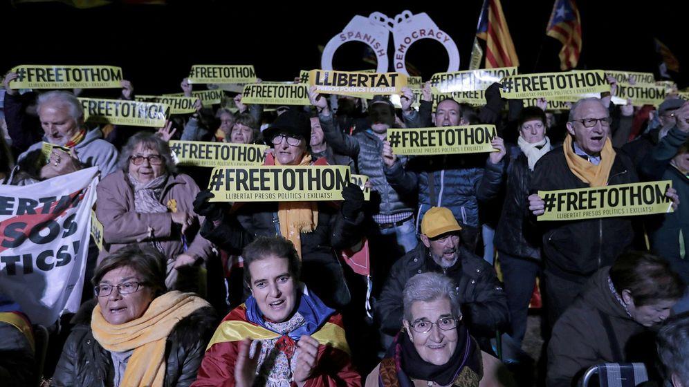 Foto: Acto del independentismo esta tarde en Lledoners. (EFE)