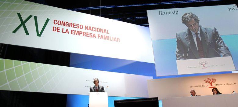 Foto: El presidente de Acciona, Jose Manuel Entrecanales, durante su participación en el XV Congreso Nacional de la Empresa Familiar (Efe)