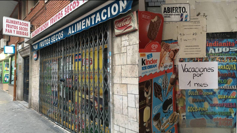 Las tiendas chinas de Madrid están cerrando por miedo a los clientes españoles. (D. B.)